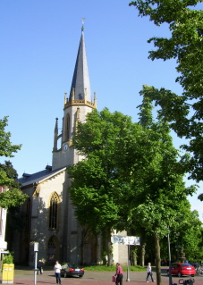Die evang. Martin-Luther-Kirche in Gütersloh