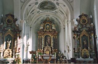 Die Kirche Zu den hl. fünf Wunden Christi in Rieden am ...